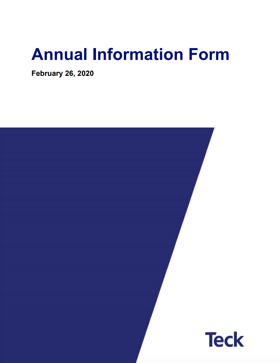 2019 Annual Information Form