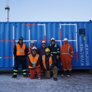 Safer Sanitation: the Kivalina Biochar Reactor