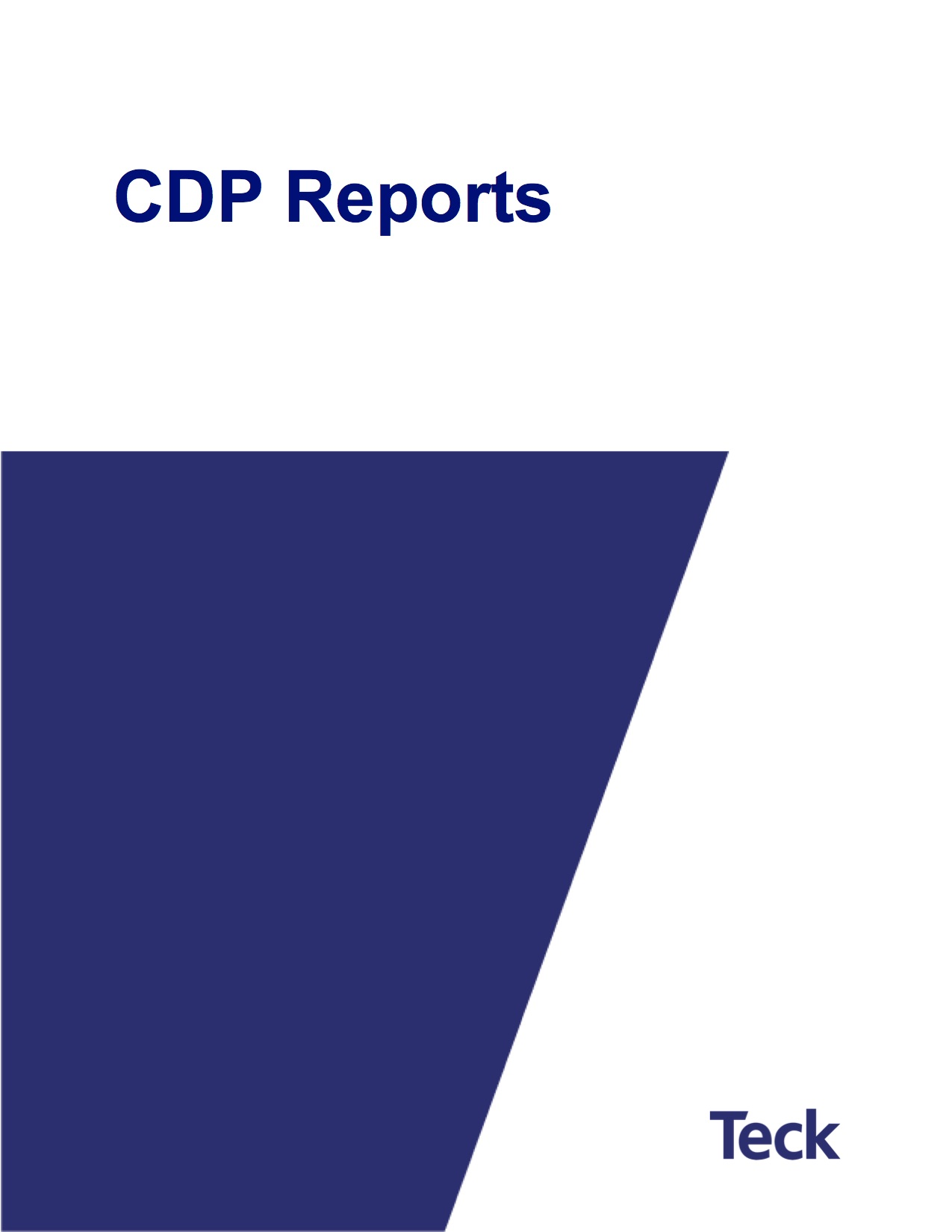 CDP Reports