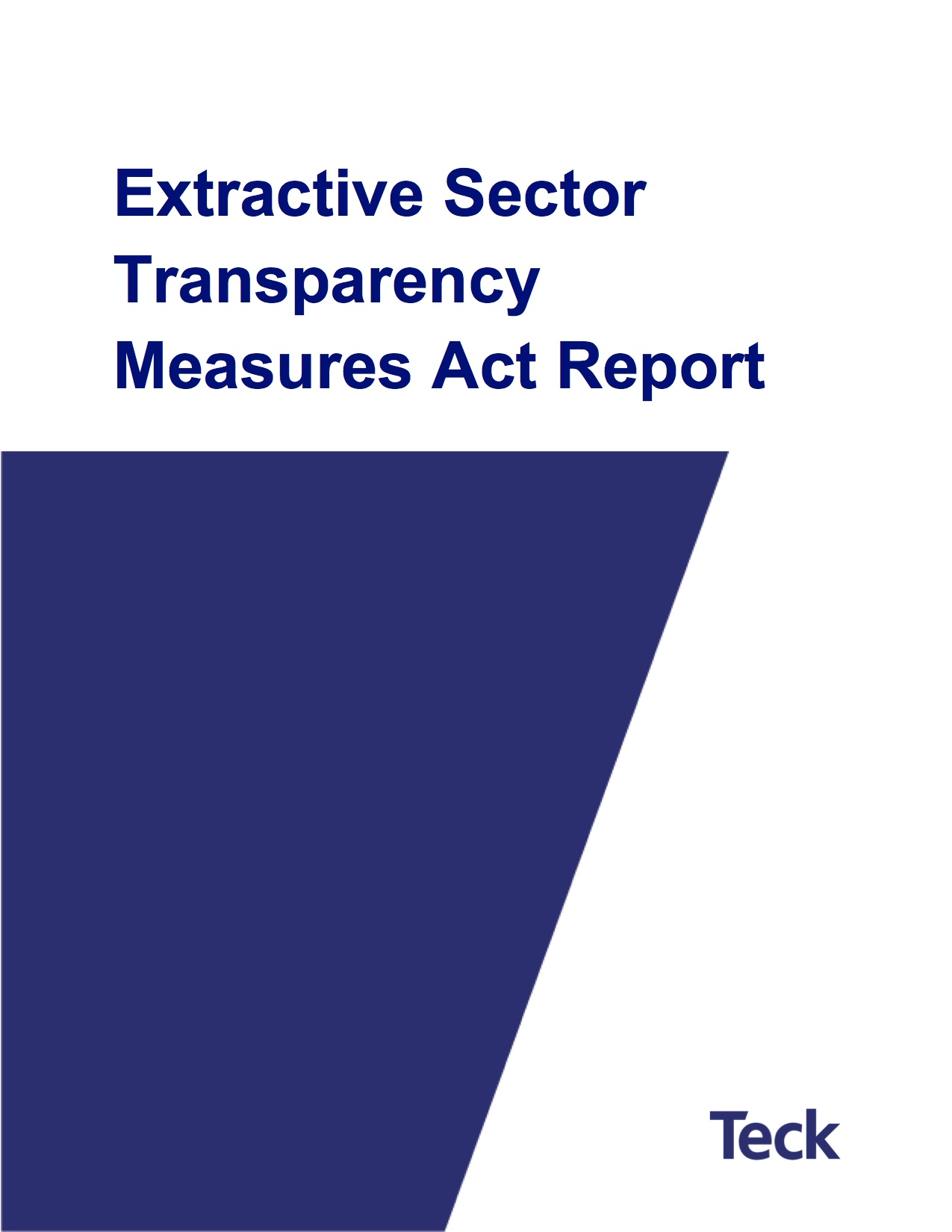 2018 Extractive Sector Transparency Measures Act Report