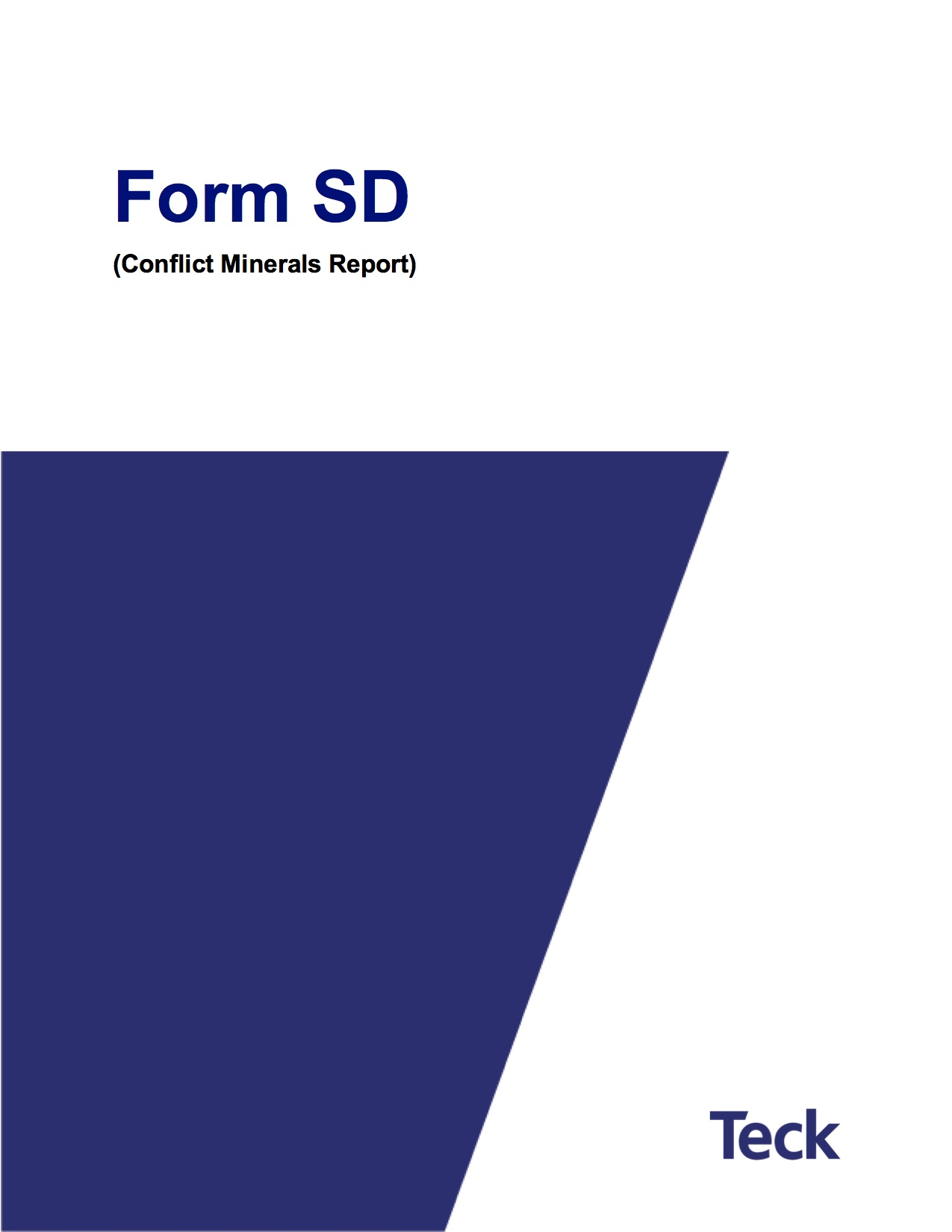 Form SD (Conflict Minerals Report)