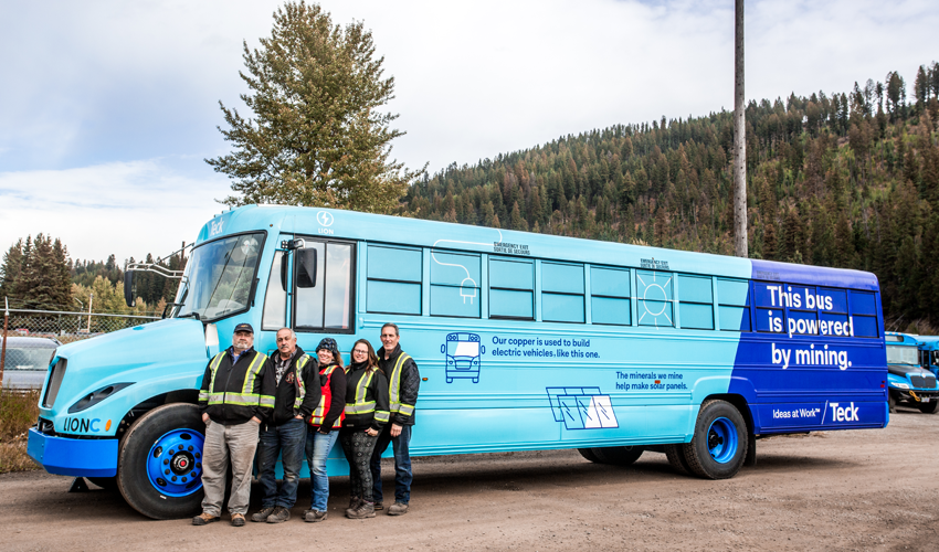 Electric Buses at our Elk Valley Mines Reduce Energy Use and Emissions